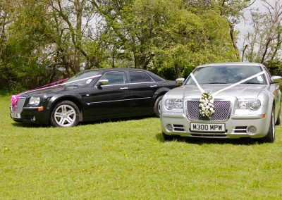 Two-wedding-cars