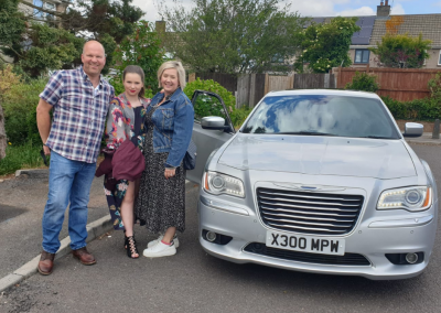 silver Chrysler Cadbury Cars for special occasion