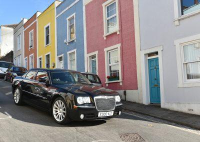 Cadbury black cars in Bristol streeet