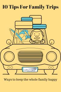 Cartoon car packed for holiday Cadbury cars